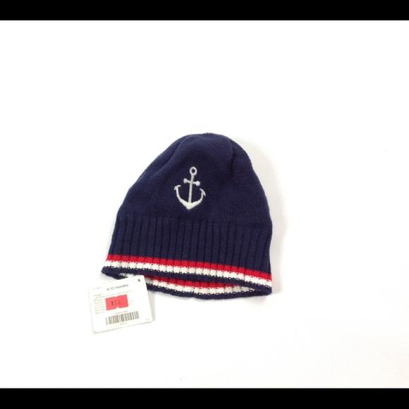 8921751855c New Gymboree Navy Blue Anchor Winter Hat Size 6-12